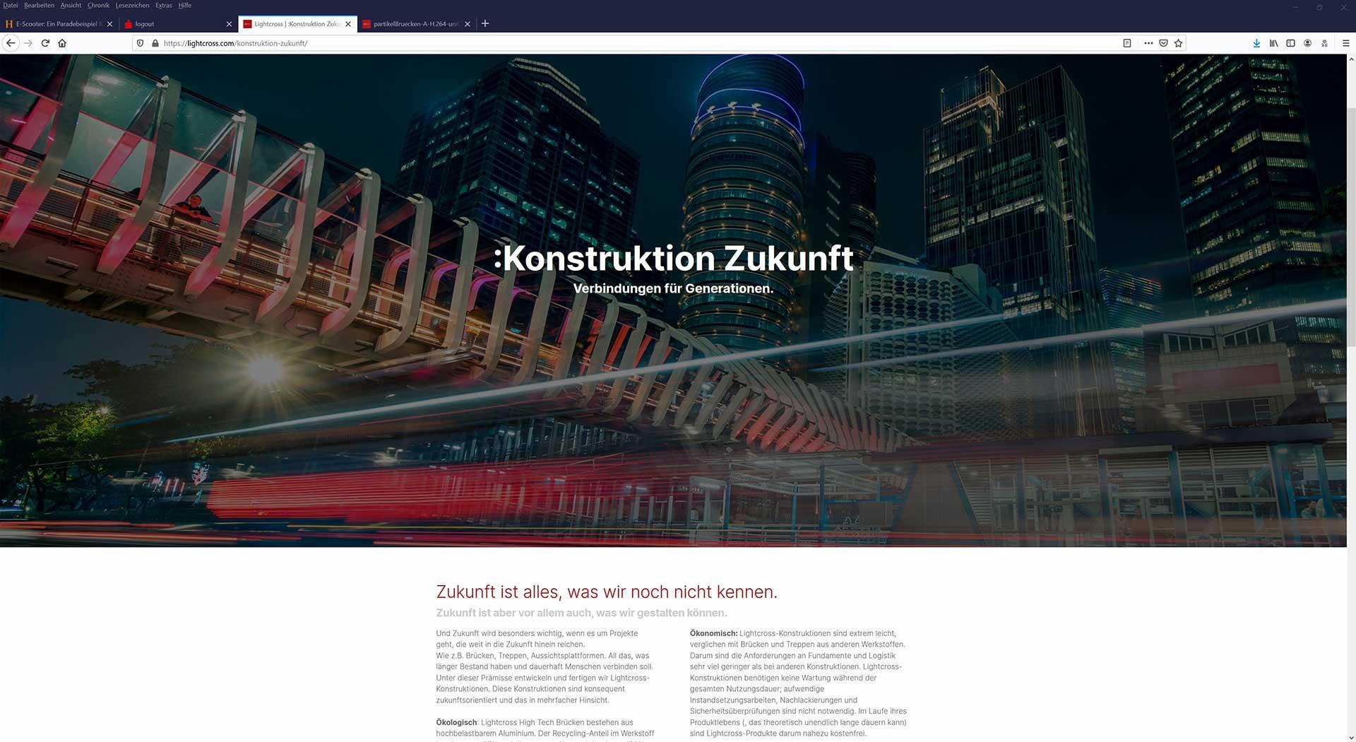 Webentwicklung neue Marke