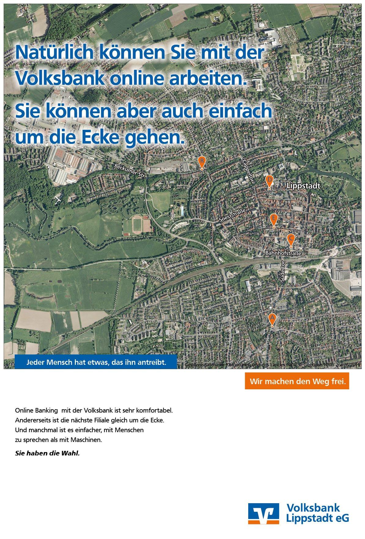 Kampagne Online-Banking Volksbank Werbeagentur