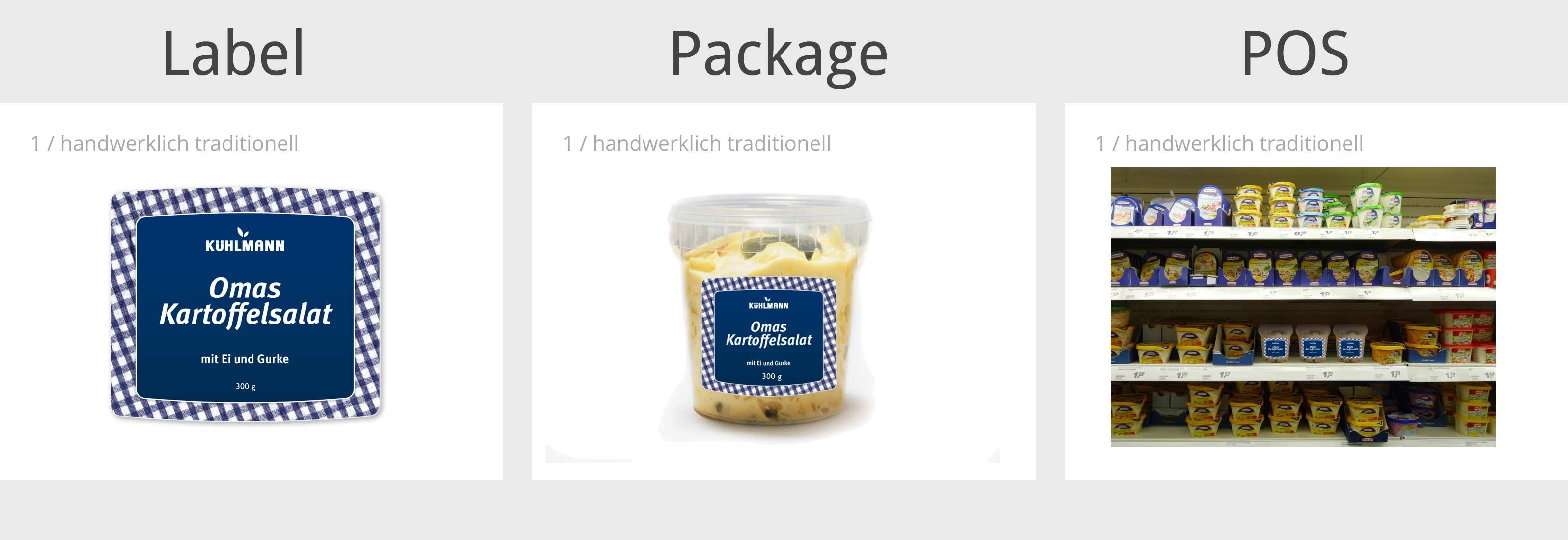 Feinkost-Packungen