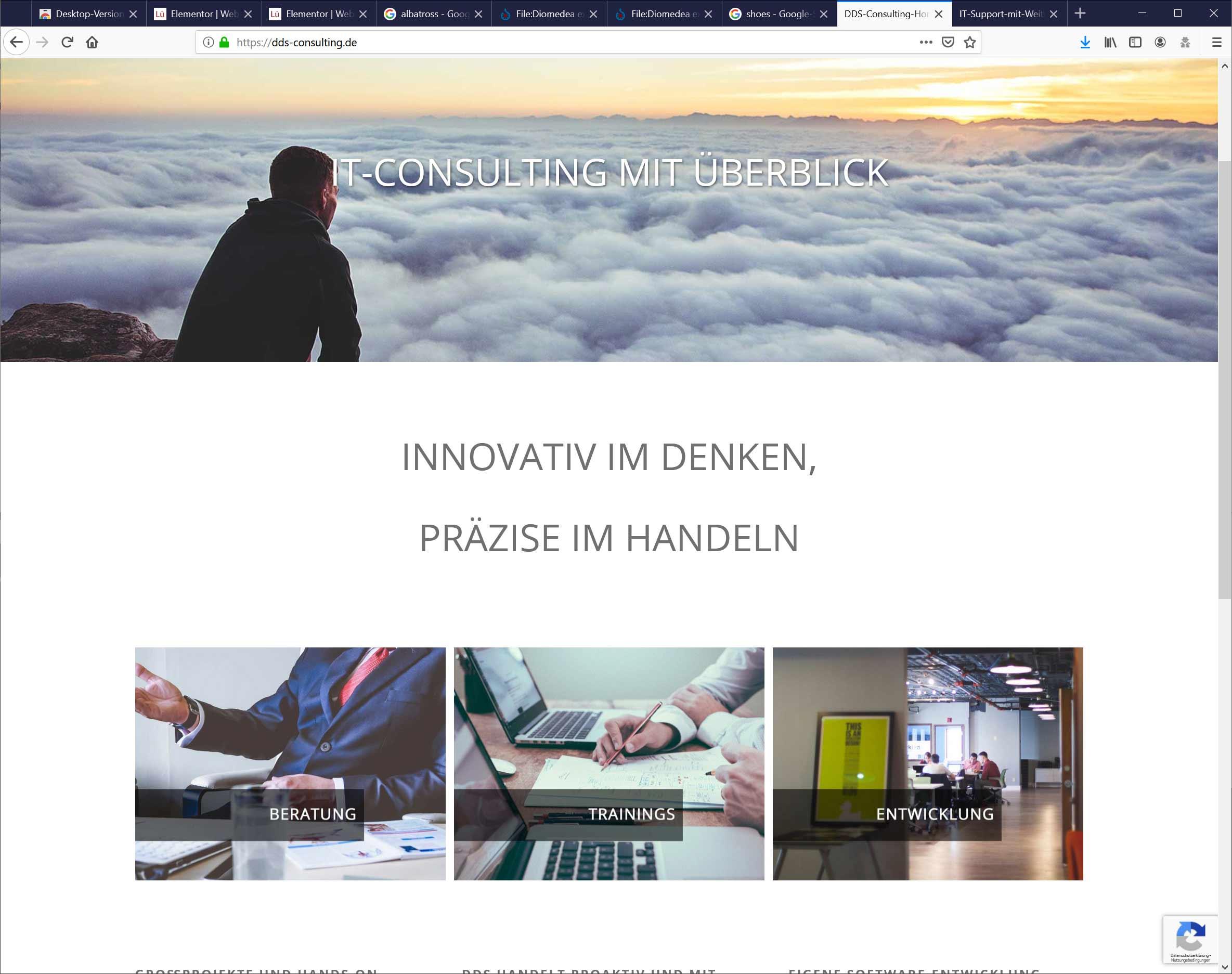 Programmierung und Design Homepage Bielefeld