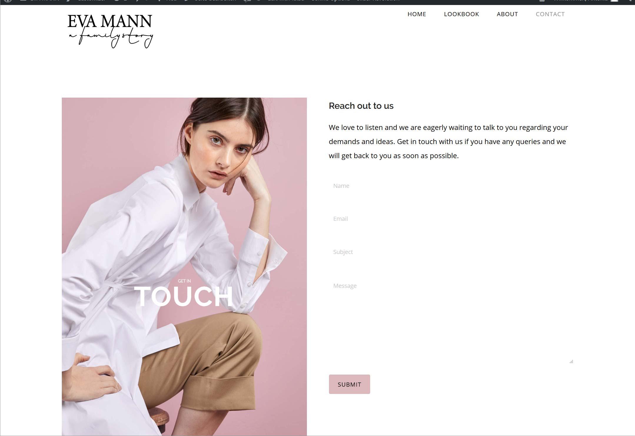 Fashion Label: Website