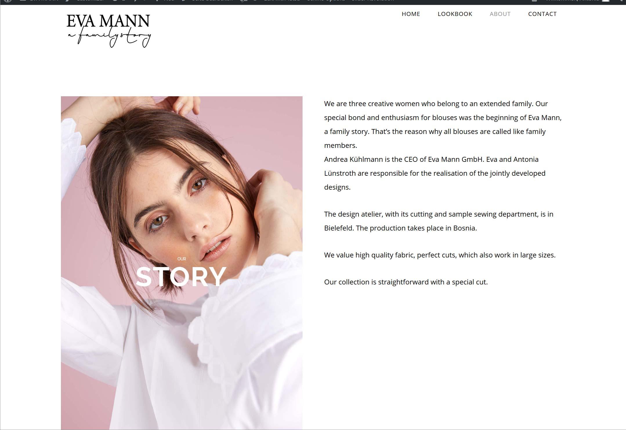 Eva Mann: Website